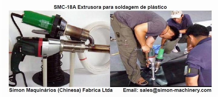 SMC-18A Extrusora para soldagem de plástico