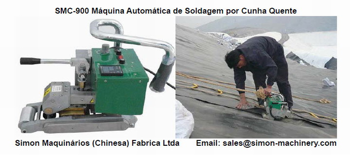 SMC-900 Geomembranas Máquina Automática de Soldagem por Cunha Quente